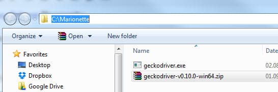 Gecko Marionette Firefox Driver with Selenium 3 0