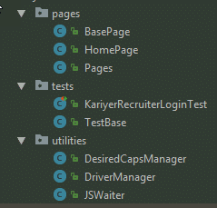 Page Object Model with JAVA