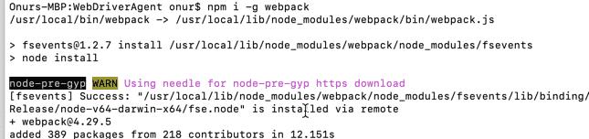 install-webpack-on-mac